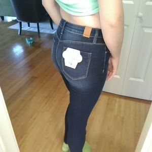 YMI Jeans - Hide your muffin top high waisted rip & tear jeans